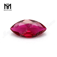 9x18mm faceted gemstones marquise cut blood ruby gems corundum