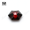 hexagon shape stones synthetic zircon diamond stones in garnet color