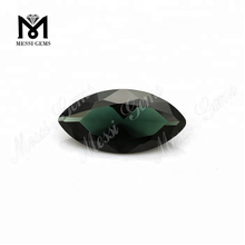 Loose gemstone #152 Marquise Cut Dark Green Synthetic Spinel Stone