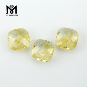 Fashion Jewelry Stone Cushion Double Briolette Rutilated Quartz Glass Stone