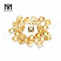 wholesale machine cut square shape natural citrine stone price