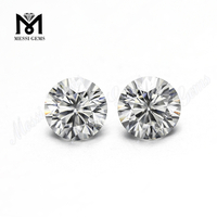 round shape synthetic white moissanites diamonds 1 carat