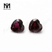 Loose Gemstone Heart Shape Natural Purple Garnet Stone