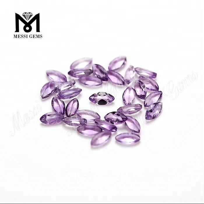Wholesale natural 5x2.5mm marquise cut loose amethyst gemstone price
