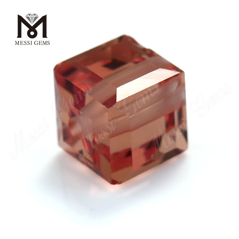 Factory price decorative cube clear color change glass gems