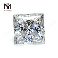 wholesale near colorless white princess cut moissanite diamond