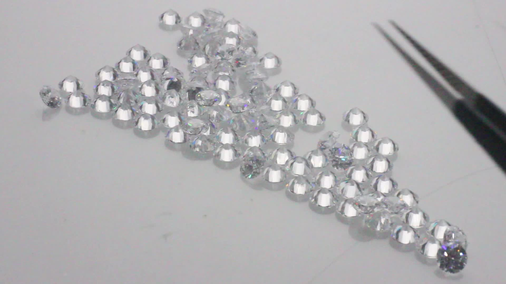 1-2.0mm Carat Excellent Polished Round Brilliant HPHT Loose CVD Diamond