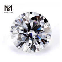 White Diamond Moissanite Loose 8mm Brilliant Machine Cut D Color