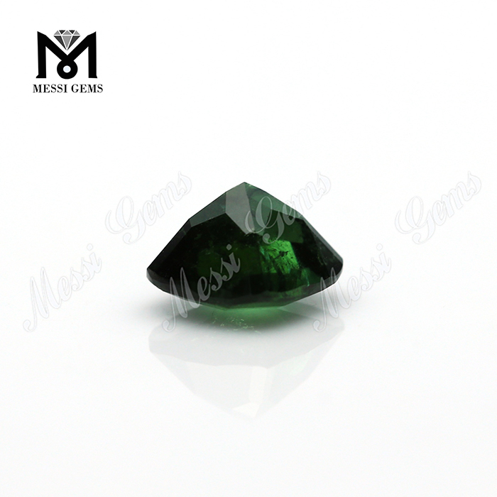 Cushion Machine Cut Natural Olivine Stone
