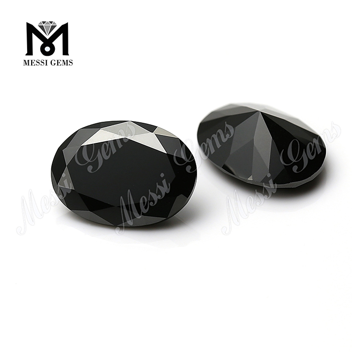 wholesale price oval black 12x16mm natural spinel