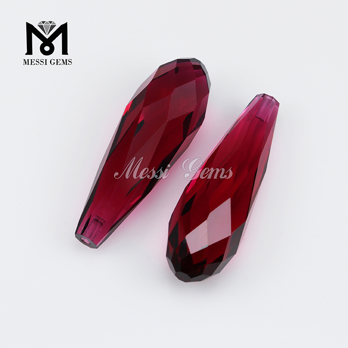 Tear Drop 7.5 x 15mm Wholesale Red Glass Stone
