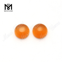 8.0mm orange round cabochon chrysoberyl cat's eye glass gemstone