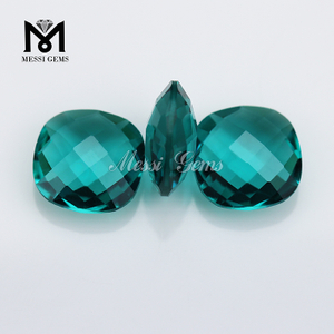 Wholesale Machine Cut Cushion Faceted Glass Gems