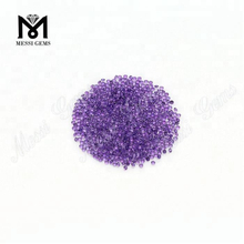 Stock factory price 1.5mm round natural amethyst stone
