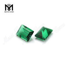 Loose Gemstone Created Emerald Rectangle Shape Hydrothermal Emerald