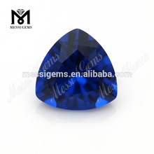 Trillion cut 13 x 13 mm Sapphire blue color nano gemstone