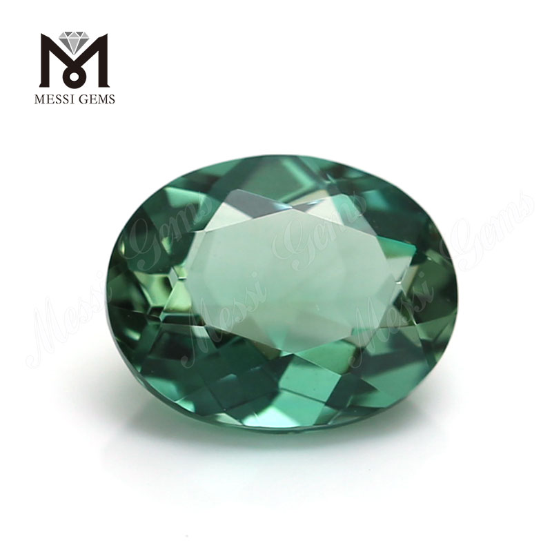 Factory Price 8x10mm Oval Cut Gemstone Loose Synthetic Green Quartz