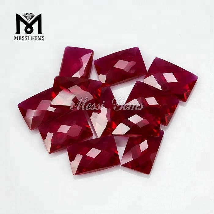 Wuzhou factory 9x14MM corundum price of synthetic ruby