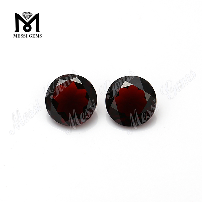 Chinese cheap 9mm round cut natural red garnet gemstones price