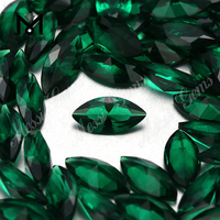 synthetic emerald green color marquise nano loose gemstone