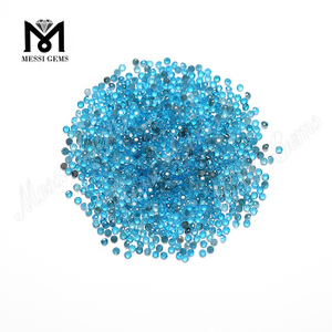 machine cut 1.5mm blue color loose natural apatite gemstones