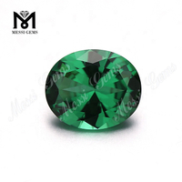 10*12mm Oval Green Color Nanosital Stone