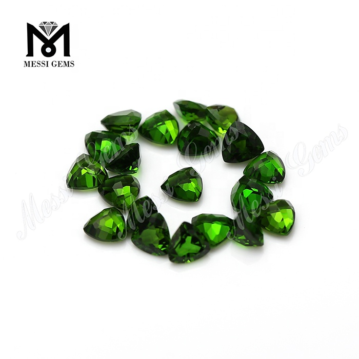 Trillion cut gemstones natural chrome diopside loose stones gems