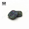 cushion druzy agate loose rainbow green druzy stone