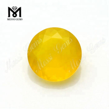 8mm round natural yellow agate loose gemstone
