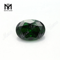 Top Quality Factory Oval Shape Green Color 13*18mm Cubic Zirconia, Jewelry Making