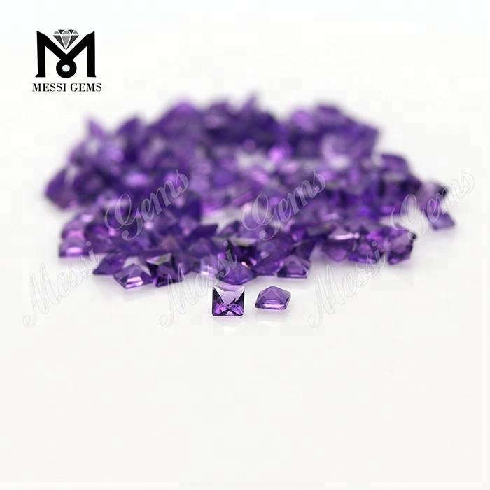Square 2.5 x 2.5 mm natural amethyst stone