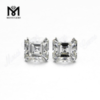 1 carat Asscher cut Synthetic white Moissanite diamond stone