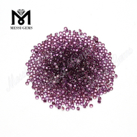 factory price 2.0mm round cut clean purple garnet stones