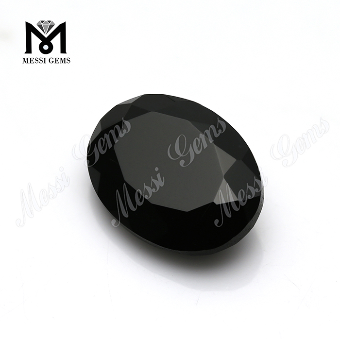 Wholesale good quality 13*18 oval gemstone natural black agate