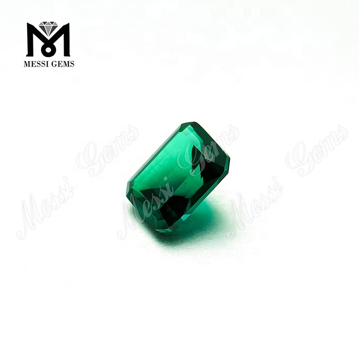 Lab Created Emerald Cut Zambian Emerald Stone Price Per Carat