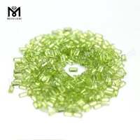 Natural Peridot Stone Baguette 2*4mm Natural Stone