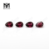 Wuzhou Factory Price Pear Cut Natural Purple Garnet Stone