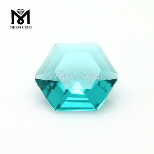 factory price 10*10 hexagon shape synthetic glass loose gems