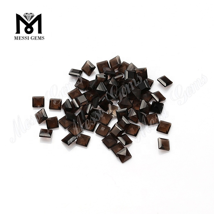 Small Size Princess Cut 3x3mm Natural Smoky Quartz Loose Stones
