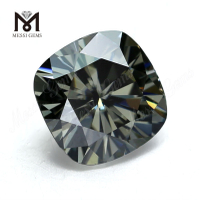 8mm Factory price moissanite diamond cushion cut loose gray moissanite price per carat