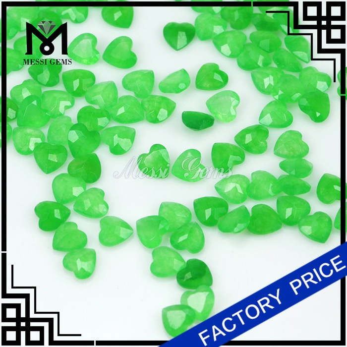 Natural Malay Jade 6x6MM Machine Cut Green Jade Stone