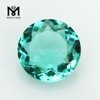 Loose Gemstone 8.0mm Paraiba Color Glass Beads