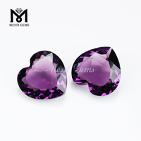 Top Quality Faceted Heart 20 x 20mm Pink Amethyst Glass Stone