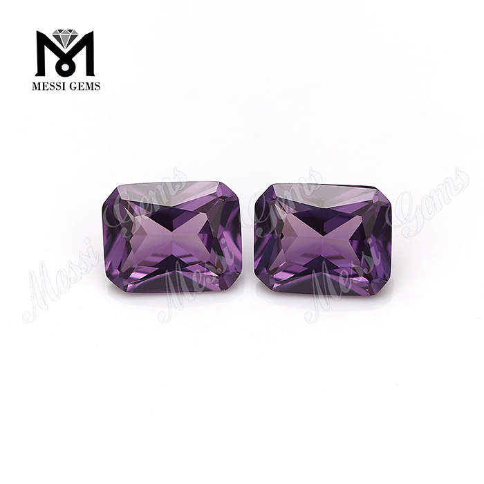 octagon cut #46 alex color change synthetic alexandrite stones