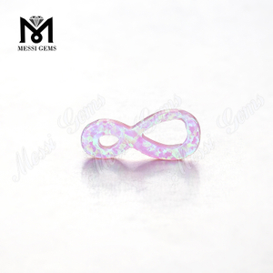 infinity shape colorful loose stones synthetic opal beads for pendant