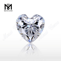 Top Machine Cut Clear White moissanite diamond Stone Heart Loose Moissanites