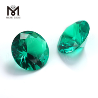 Lab Created Emerald Round Brillianit Cut Colombia Emerald Stone Price