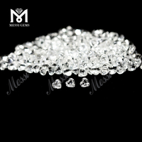 3x3mm Heart Cut White Topaz Stones Price from Chinese Factory