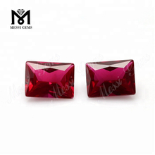 Factory Price Baguette Cut 8# Synthetic Ruby Corundum Loose Gemstone