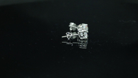 Fashion 4 Claws 1ct Moissanite Stones 14 Carat Solid Gold Stud Earrings
